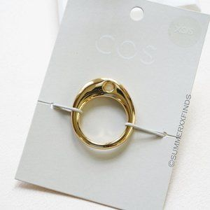 COS Perforated Ring Gold Size XS/S